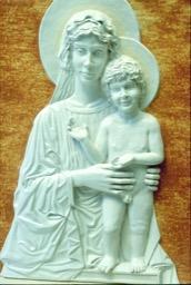 Pannello a rilievo Madonna con Bambino