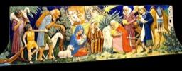 Pannello Natività a rilievo e colore